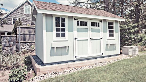 Una casetta in legno per il giardino